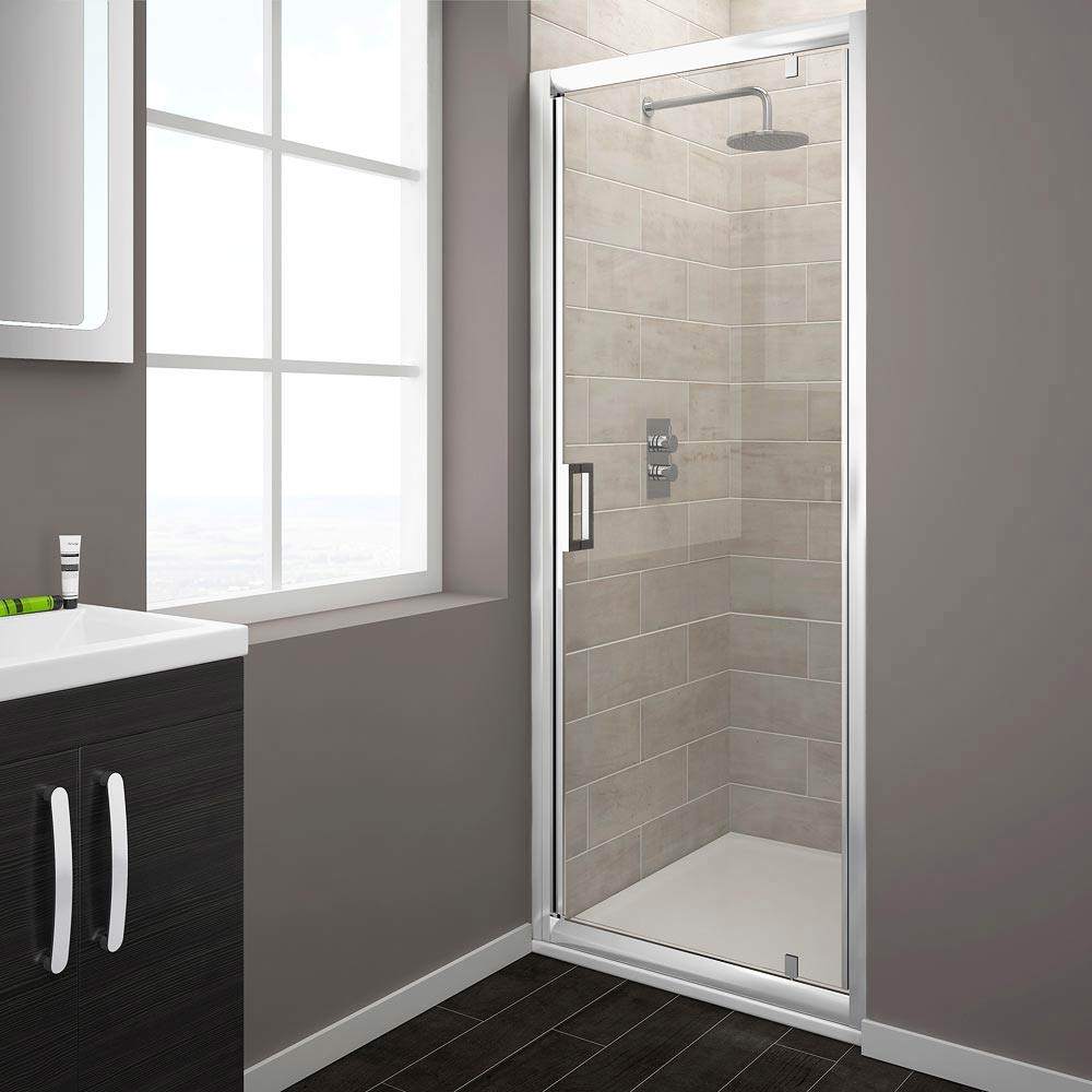 Turin Pivot 8mm Easy Fit Shower Door Large Image