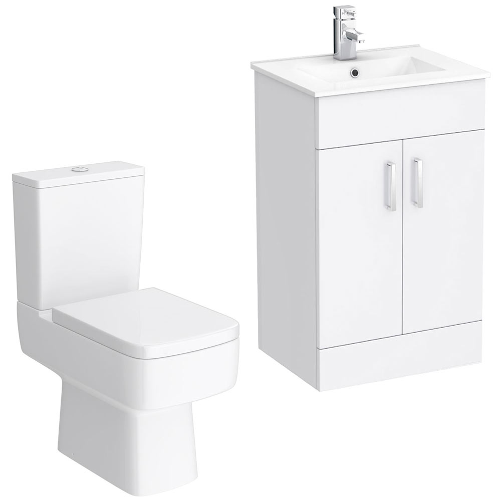 Turin small 4 piece suite victorian plumbing uk for Small 4 piece bathroom
