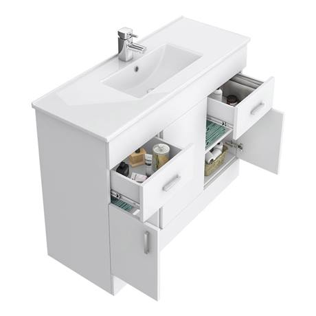 Turin vanity sink with cabinet 1000mm modern high gloss for Kitchen cabinets 1000mm