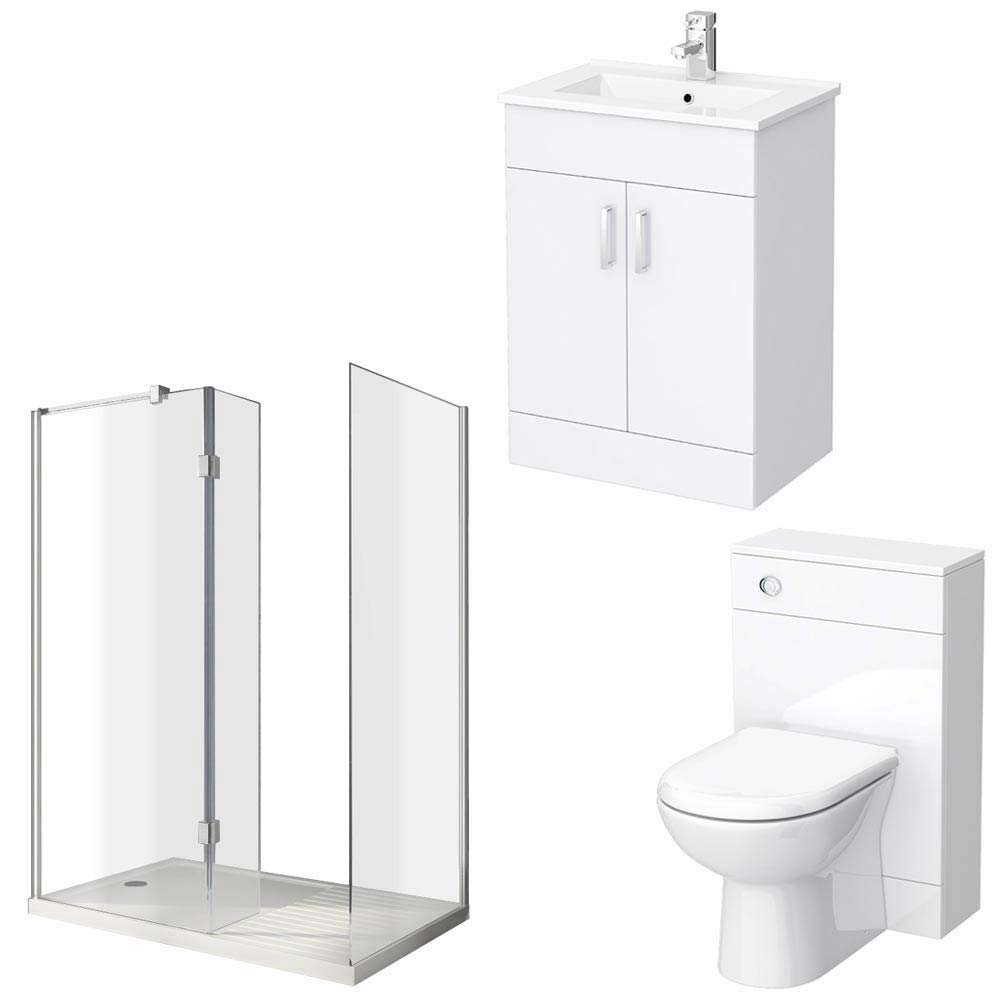 Turin Vanity Unit Suite + Walk In Enclosure profile large image view 5