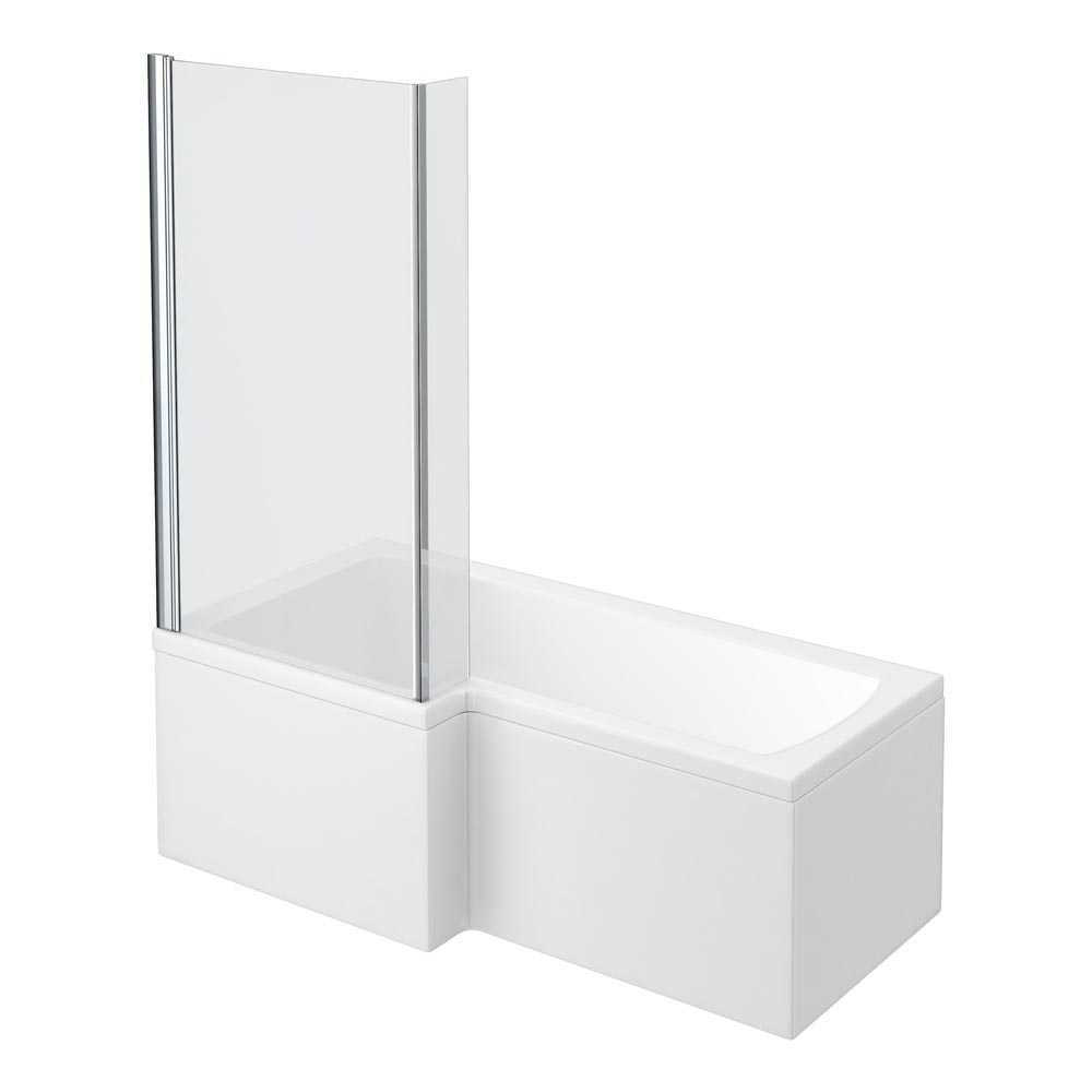Turin Vanity Unit Bathroom Suite (Inc. Square Shower Bath + Screen) In Bathroom Large Image
