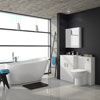 Turin Vanity Unit Suite + Modern Slipper Bath profile small image view 1
