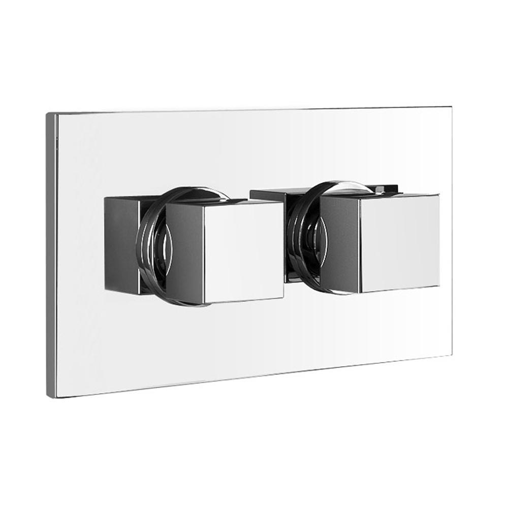 Turin Wall Mounted Waterfall Bath Filler + Concealed Thermostatic Valve  Profile Large Image