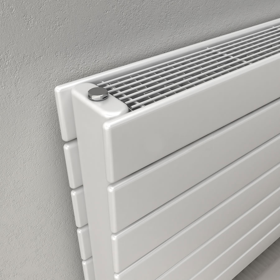 Reina Flatco Type 22 Steel Designer Radiator - White Profile Large Image