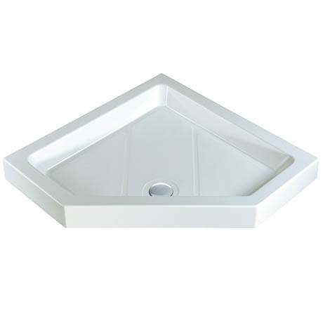 MX Classic Flat Top Polyester Gel Coated Pentangle Shower Tray