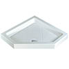 MX Classic Flat Top Pentangle Shower Tray profile small image view 1