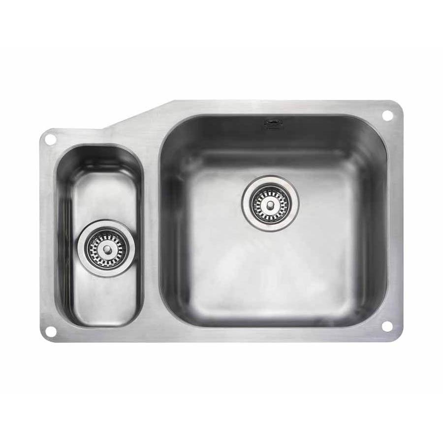 Rangemaster Atlantic Classic UB4015 1.5 Bowl Stainless Steel Undermount Kitchen Sink 671 x 460mm