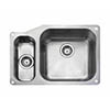 Rangemaster Atlantic Classic UB4015 1.5 Bowl Stainless Steel Undermount Kitchen Sink 671 x 460mm profile small image view 1