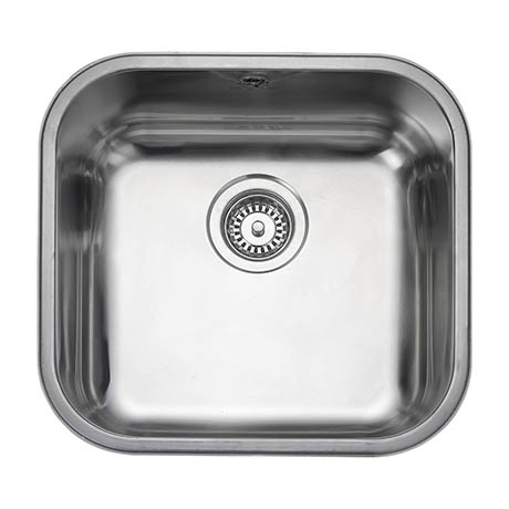 Rangemaster Atlantic Classic UB40 Stainless Steel Undermount Kitchen Sink 460 x 440