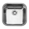 Rangemaster Atlantic Classic UB40 Stainless Steel Undermount Kitchen Sink 460 x 440mm profile small image view 1