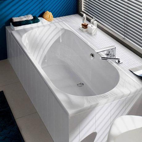 Villeroy and Boch O.novo 1800 x 800mm Double Ended Rectangular Bath - UBA180CAS2V-01