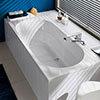 Villeroy and Boch O.novo 1800 x 800mm Double Ended Rectangular Bath - UBA180CAS2V-01 profile small image view 1