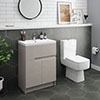 Urban 600mm Cashmere Compact Floorstanding Vanity Unit + Close Coupled Toilet profile small image view 1