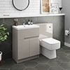 Urban Cashmere Modern Sink Vanity Unit + WC Toilet Unit Package profile small image view 1
