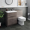 Urban Grey Avola Modern Sink Vanity Unit + WC Toilet Unit Package profile small image view 1