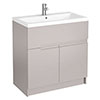 Urban Compact 800mm Floorstanding Vanity Unit - Cashmere profile small image view 1