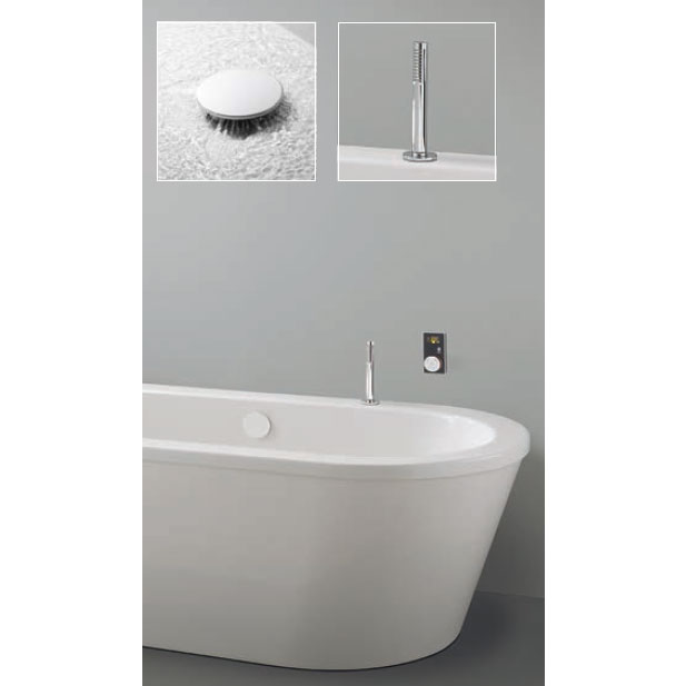 Crosswater Digital Ultimate Elite Bath with Bath Filler and Pull Out Hand Shower Large Image