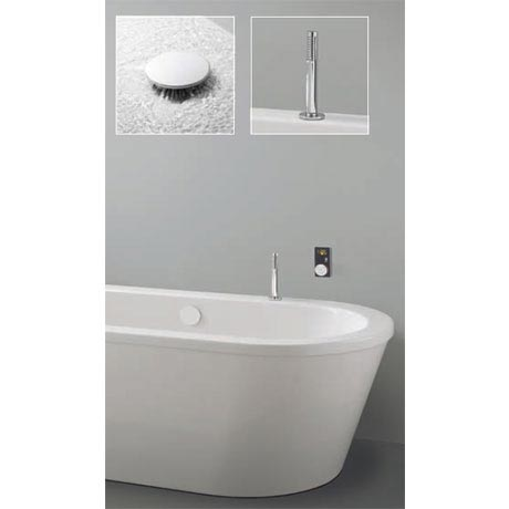 Crosswater Digital Ultimate Elite Bath with Bath Filler and Pull Out Hand Shower