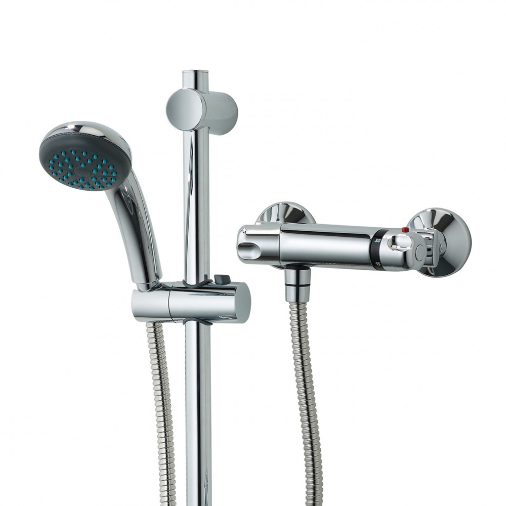 Triton Aire Thermostatic Bar Shower Mixer & Kit - UNAITHBM profile large image view 4