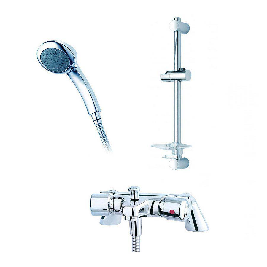 Triton Aire Thermostatic Bath Shower Mixer with Riser Rail & Handset - UNAITHBSMRR Large Image