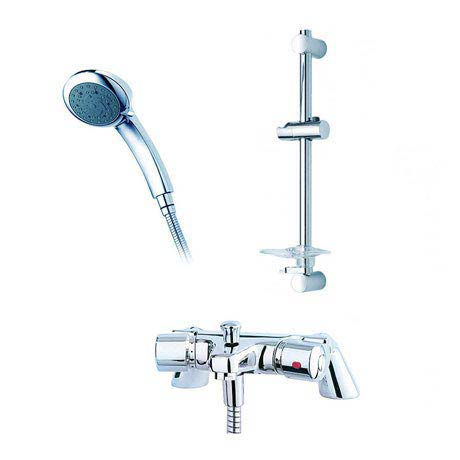 Triton Aire Thermostatic Bath Shower Mixer with Riser Rail & Handset - UNAITHBSMRR