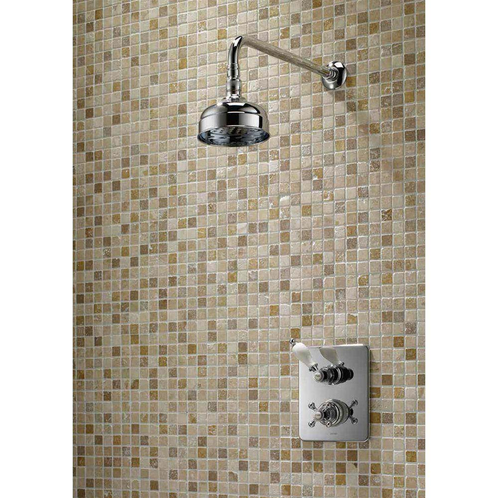 Triton Unichrome Avon Built-in Shower Valve with Fixed Shower Head profile large image view 2