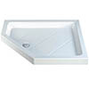 MX Classic Flat Top LH Polyester Gel Coated Offset Pentangle Shower Tray profile small image view 1