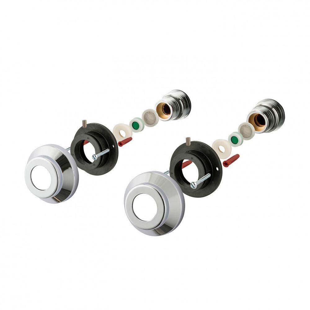 Triton Bar Mixer Shower Fixing Kit for Exposed Pipe Tails - UNBMXFIXBT profile large image view 2