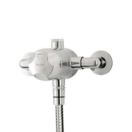 Triton Dove Exposed Sequential Thermostatic Shower Mixer & Kit - UNDOTHEXSM profile large image view 2