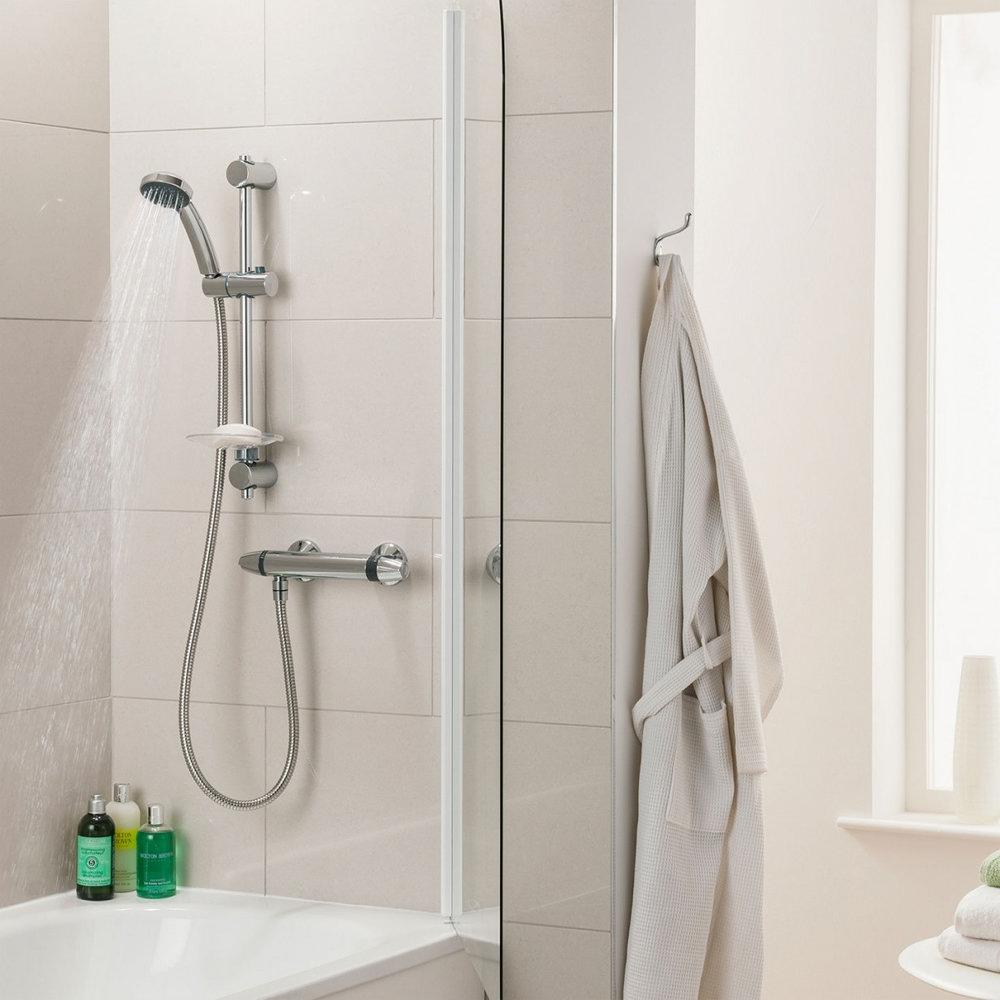 Triton Exe Thermostatic Bar Shower Mixer & Kit - UNEXTHBM profile large image view 6