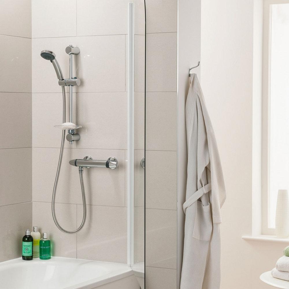 Triton Exe Thermostatic Bar Shower Mixer & Kit - UNEXTHBM profile large image view 7
