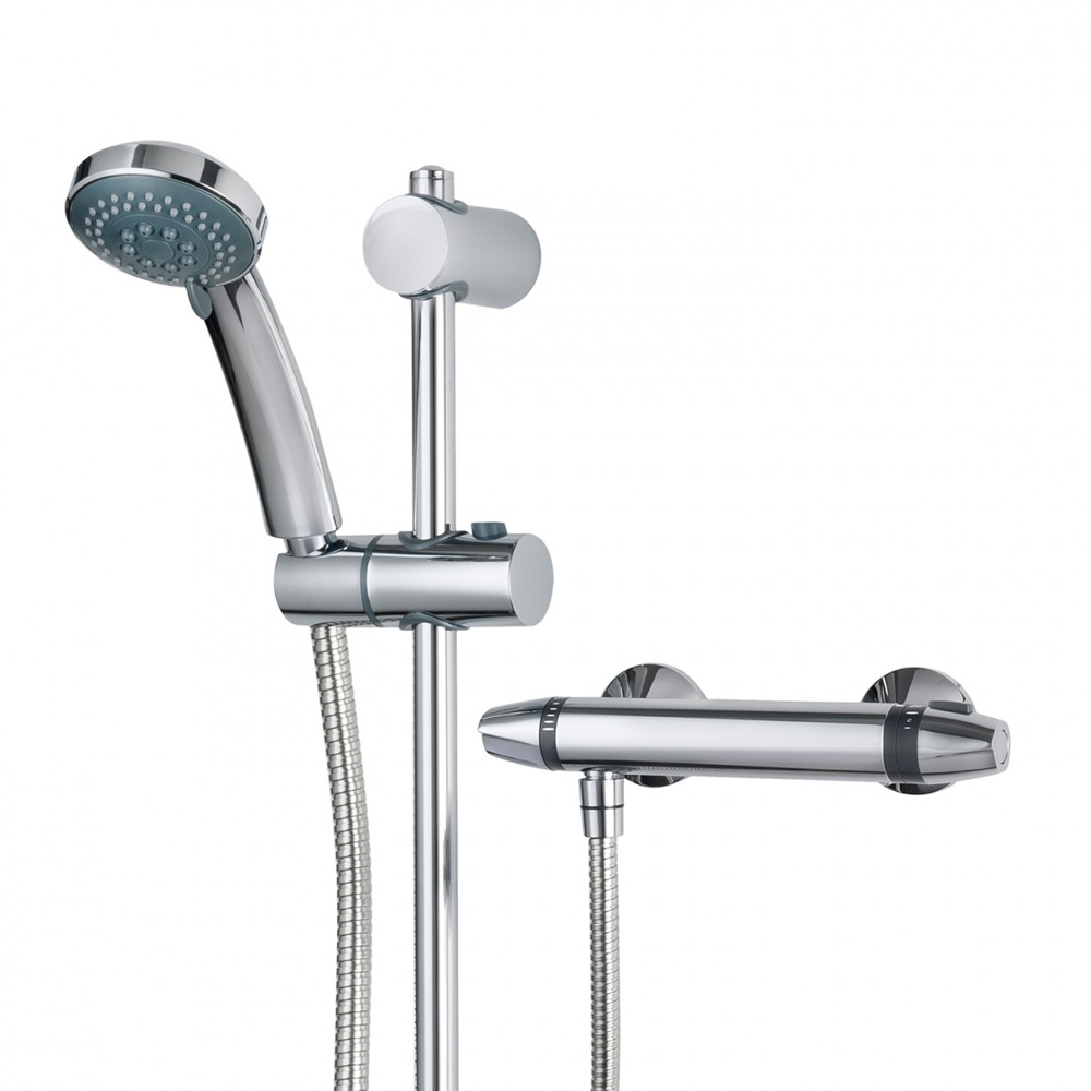 Triton Exe Thermostatic Bar Shower Mixer & Kit - UNEXTHBM profile large image view 5