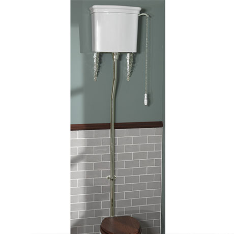 Silverdale Universal Nickel High Level Flush Pipe Kit