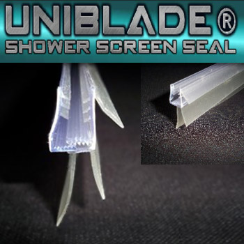 Uniblade Universal Shower Screen Seal for Straight or Curved 4-10mm Thick Glass Large Image