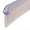 Uniblade Universal Shower Screen Seal for Straight or Curved 4-10mm Thick Glass profile small image view 1
