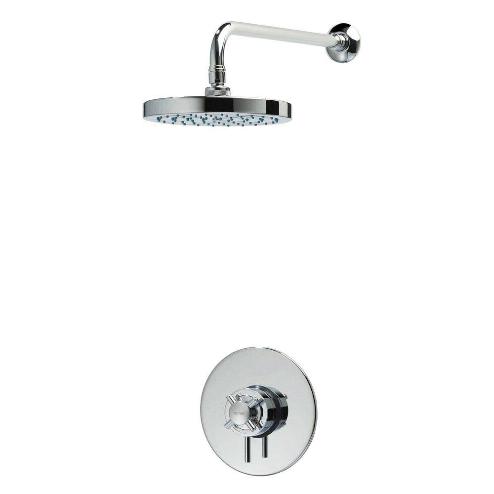 Triton Mersey Built-In Concentric Thermostatic Shower Mixer with Fixed Head - UNMEBTCMFH Large Image