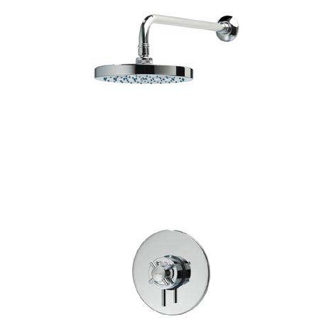 Triton Mersey Built-In Concentric Thermostatic Shower Mixer with Fixed Head - UNMEBTCMFH