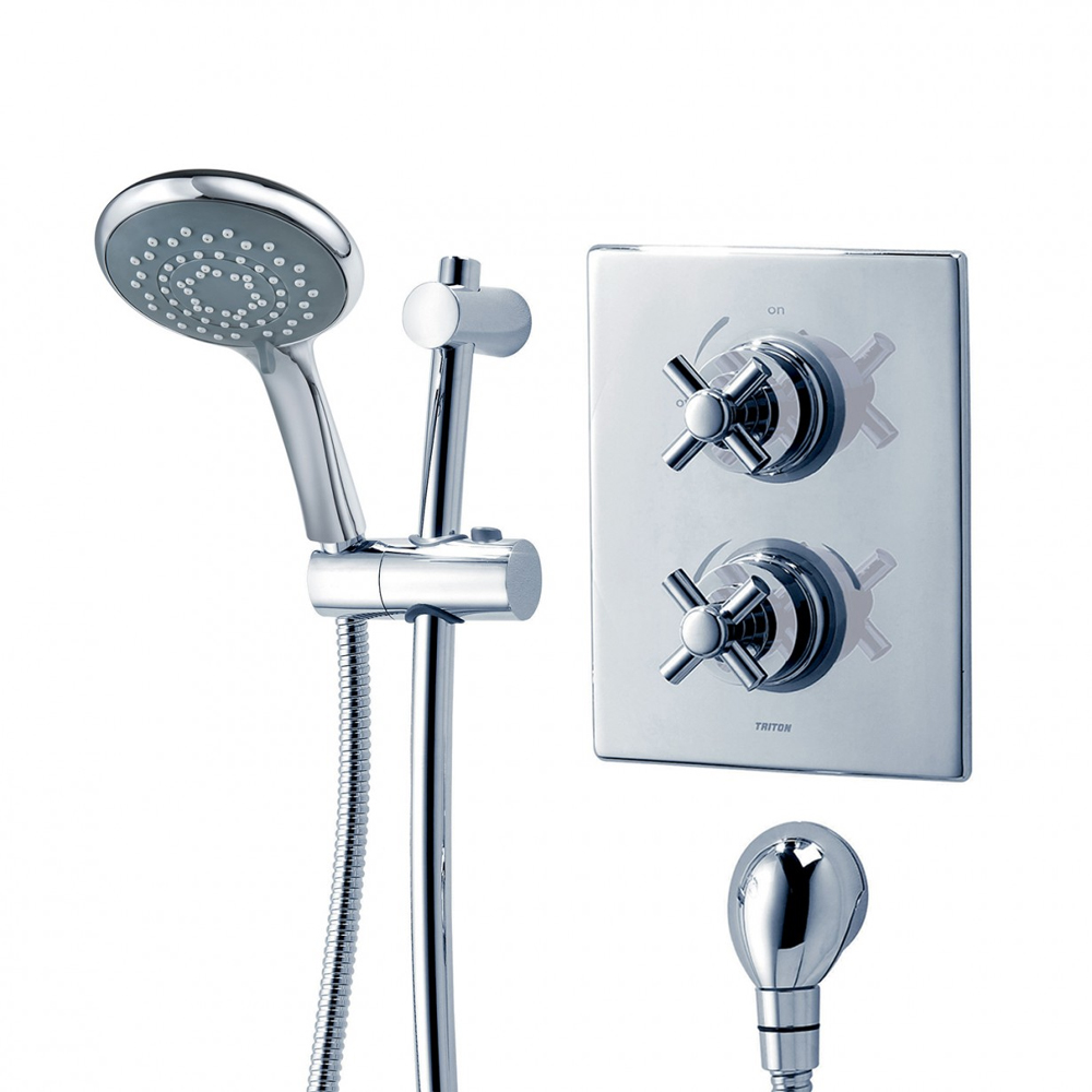 Triton Mersey Dual Control Thermostatic Shower Mixer & Kit - UNMEDCMX profile large image view 3