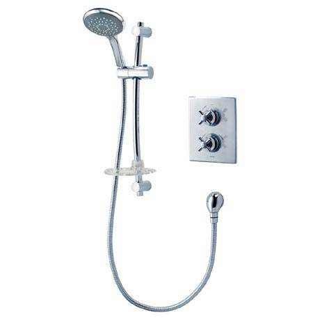 Triton Mersey Dual Control Thermostatic Shower Mixer & Kit - UNMEDCMX