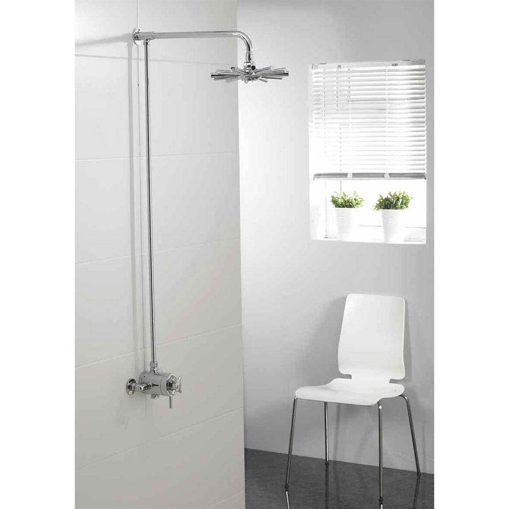 Triton Mersey Exposed Concentric Thermostatic Shower Mixer with Fixed Head - UNMEEXCMFH profile large image view 4