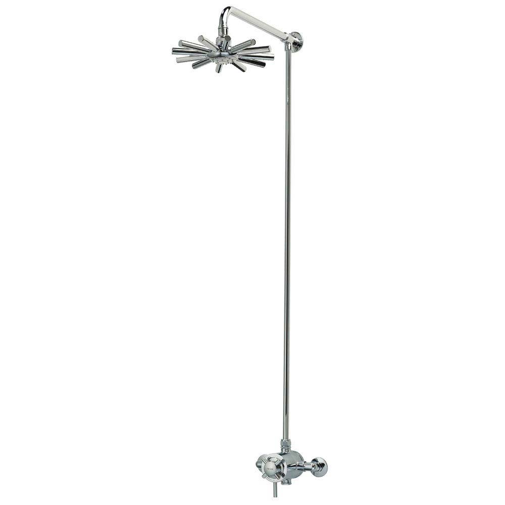 Triton Mersey Exposed Concentric Thermostatic Shower Mixer with Fixed Head - UNMEEXCMFH Large Image