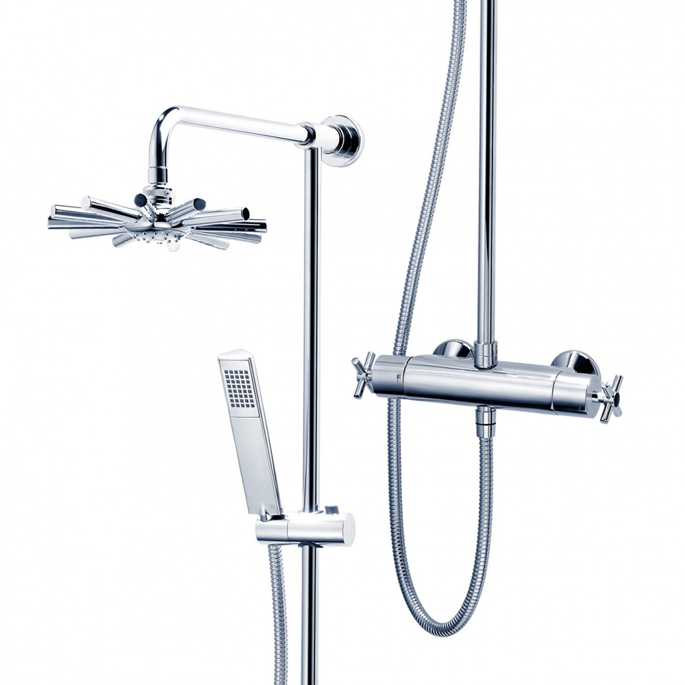 Triton Mersey Thermostatic Bar Shower Mixer with Diverter & Kit - UNMETHBMDIV profile large image view 5