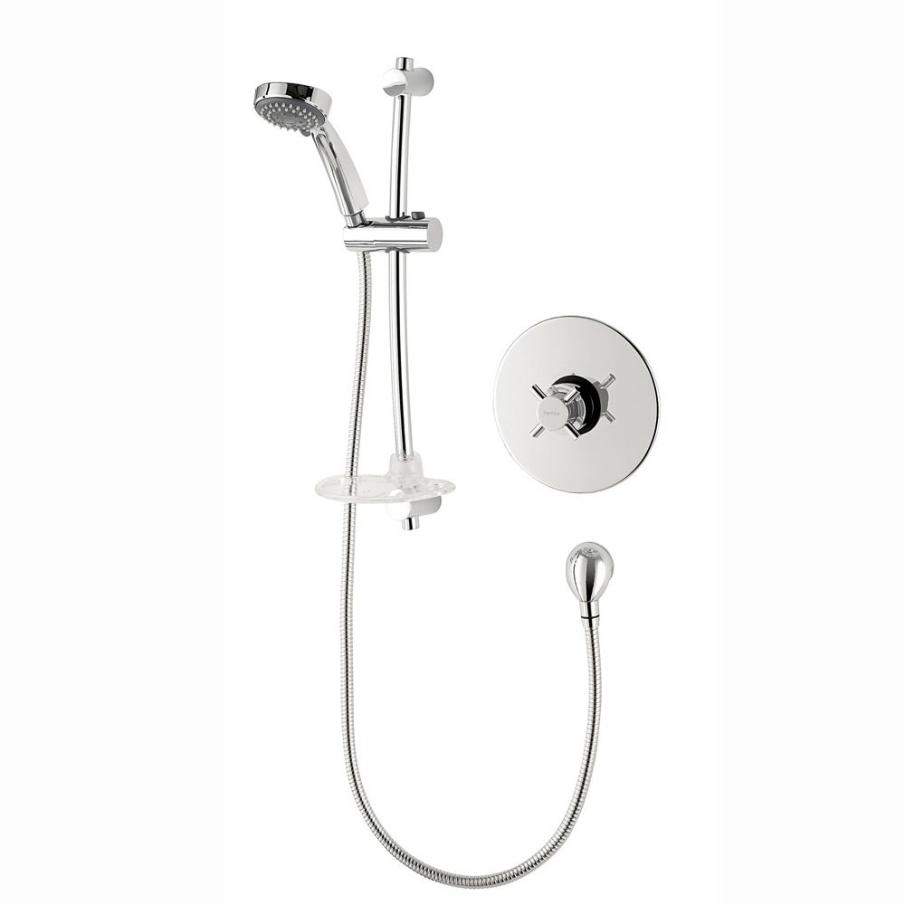 Triton Mersey Built-In Mini Sequential Thermostatic Shower Mixer & Kit - UNMETHBTSMMN profile large image view 1