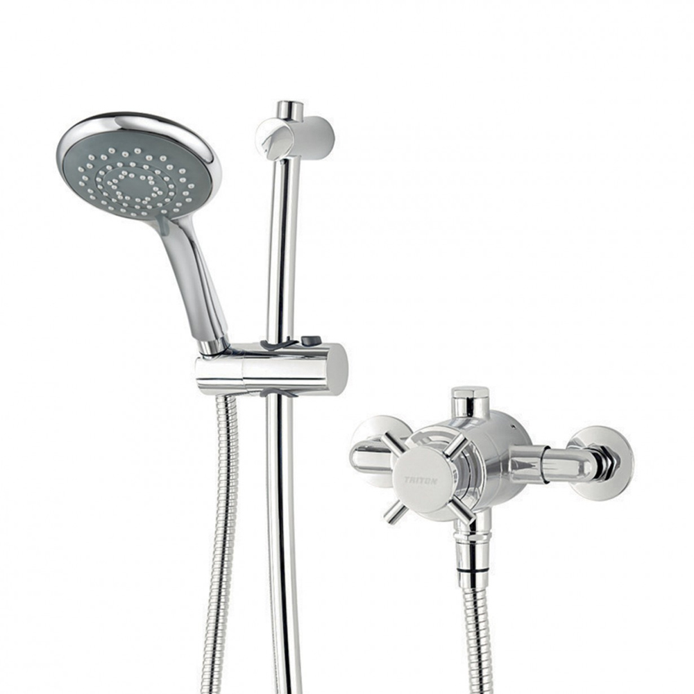 Triton Mersey Exposed Sequential Thermostatic Shower Mixer & Kit - UNMETHEXSM profile large image view 3