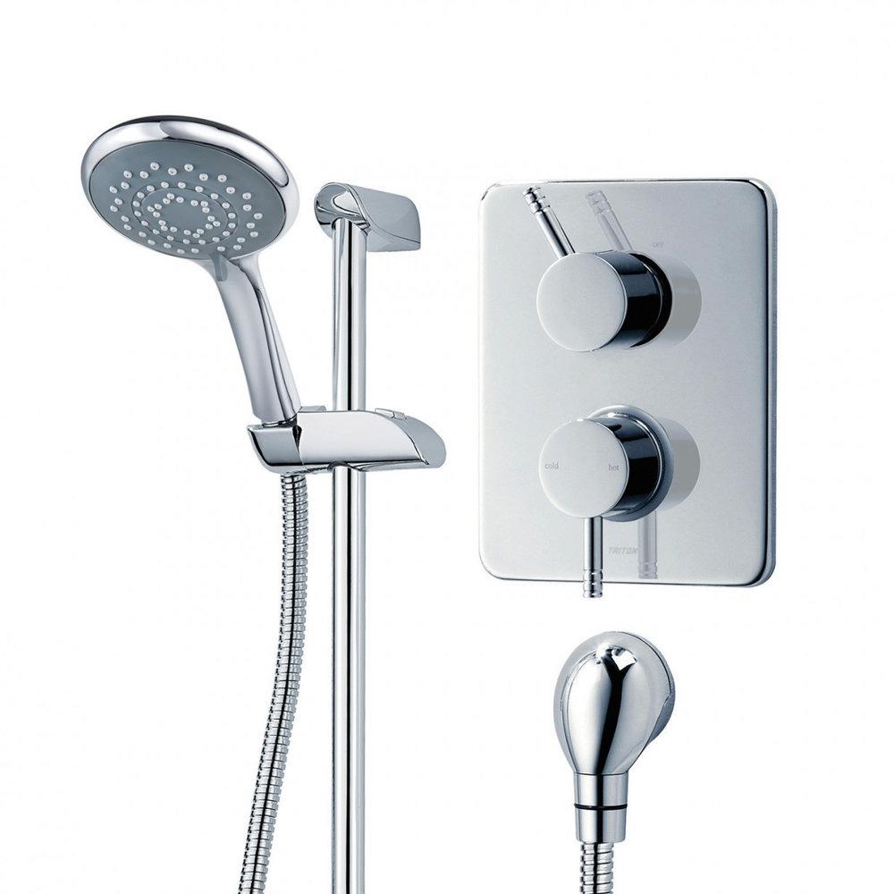 Triton Thames Dual Control Thermostatic Shower Mixer & Kit - UNTHDCMX profile large image view 3