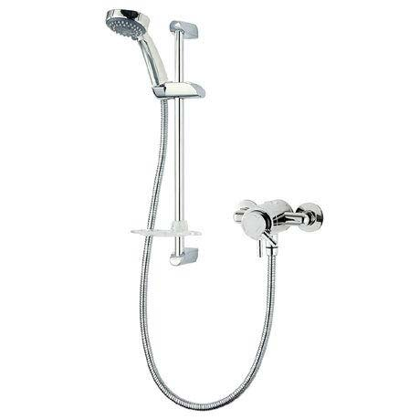 Triton Thames Exposed Mini Concentric Thermostatic Shower Mixer & Kit - UNTHEXCMMN