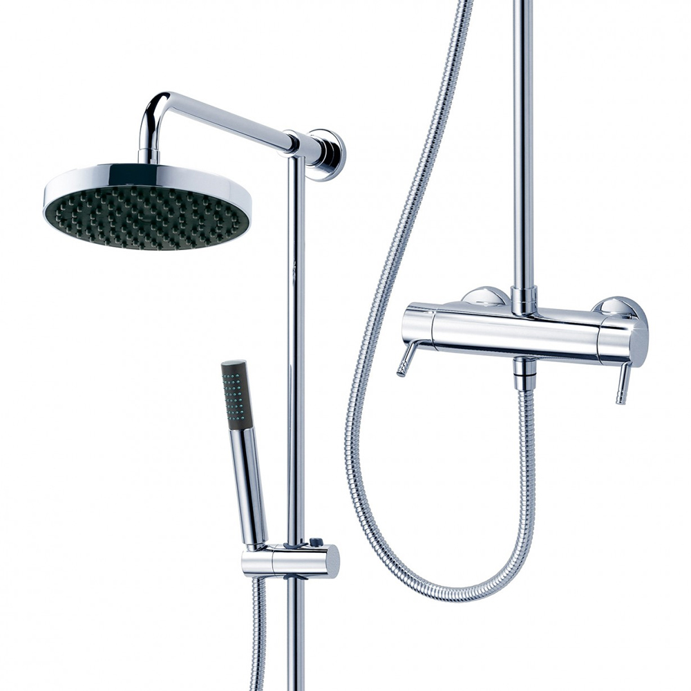 Triton Unichrome Thames Thermostatic Bar Diverter Shower and Kit - UNTHTHBM profile large image view 2