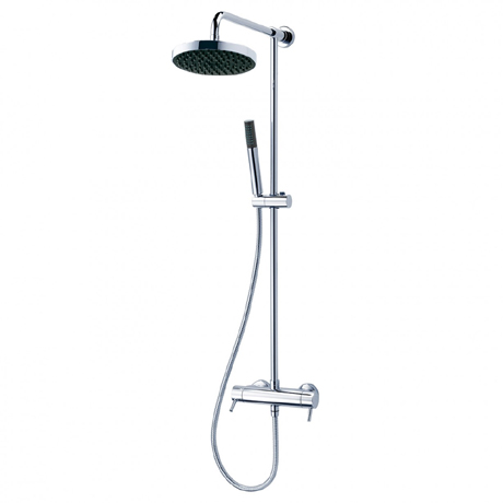 Triton Unichrome Thames Thermostatic Bar Diverter Shower and Kit - UNTHTHBM