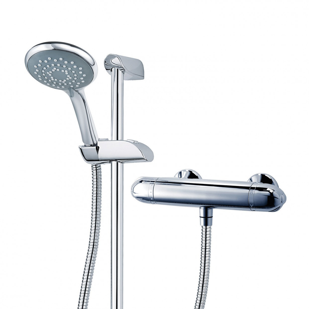 Triton Tyne Thermostatic Bar Shower Mixer & Kit - UNTYTHBM profile large image view 4