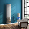 Urban 1600mm Chrome Single Panel Vertical Radiator - Various Widths profile small image view 1